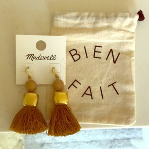 Madewell gold tassel earrings